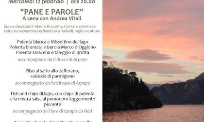 """Mercoledì 12 febbraio """"Pane e Parole"""": a cena con Andrea Vitali"""