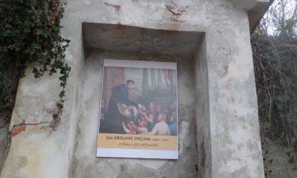 Rossino: dopo i vandalismi, torna l'effigie di San Girolamo
