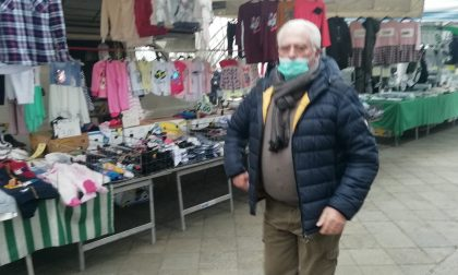Psicosi Coronavirus: mercato di Calolzio aperto… ma quasi deserto FOTO