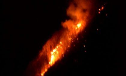 Tre incendi boschivi nel Lecchese