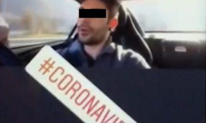 """Va a prendere la fidanzata """"in quarantena""""  e pubblica il video. Denunciato"""
