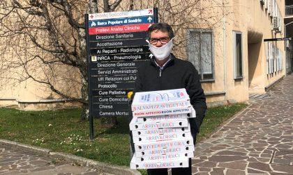 Cento pizze in regalo al personale dell'ospedale di Merate FOTO