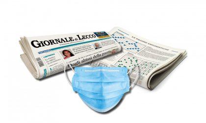 Questa settimana  in edicola una mascherina in omaggio insieme al Giornale di Lecco