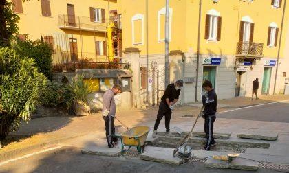 Galbiate: lavori in corso in Largo Indipendenza, strada chiusa fino a lunedì