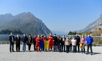 L'accoglienza ai medici venuti dalla Romania per aiutare Lecco FOTO