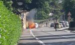 Furgone prende fuoco sulla Provinciale