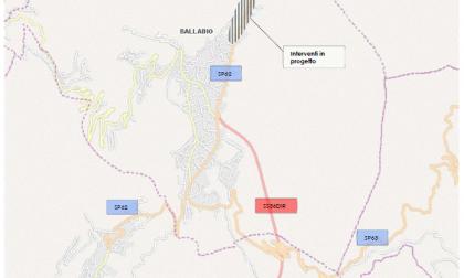 Ballabio: continuano i lavori alla rete fognaria sulla provinciale a Balisio