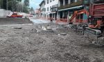 Conclusa la posa della fognatura nel centro storico di Mandello FOTO