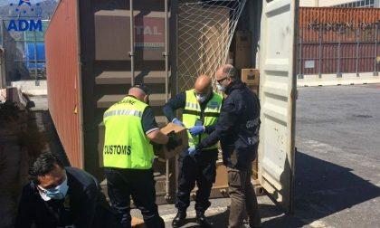 Maxi sequestro di 800mila guanti in lattice destinati a una società lecchese FOTO