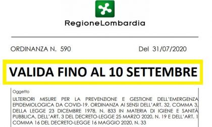 """Nuova ordinanza di Regione Lombardia N. 590 """"Ulteriori misure per la prevenzione e gestione dell'emergenza epidemiologica da Covid-19"""""""