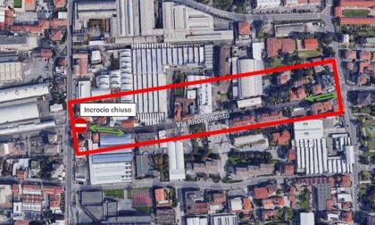 Lavori in via Belfiore: chiuso l'incrocio con via Risorgimento