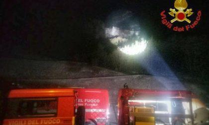 Bloccati sul Moregallo: salvati nella notte dai Vigili del Fuoco FOTO
