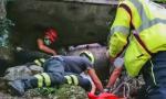Scivola in un canale di scolo: soccorsa una 17enne FOTO
