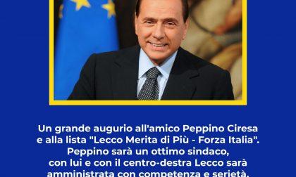 Elezioni Lecco 2020: endorsement di Berlusconi per Ciresa