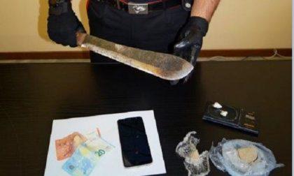 Blitz contro lo spaccio: arrestato 26enne irregolare beccato con droga e un machete