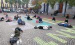 I ragazzi del Fridays For Future in piazza (facevano il tifo per il Nobel per la Pace a Greta)