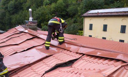 Nubifragio scoperchia il tetto dell'ex scuola di Laorca FOTO