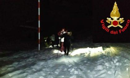 Recuperate le sei persone bloccate sul sentiero piani d'Erna FOTO