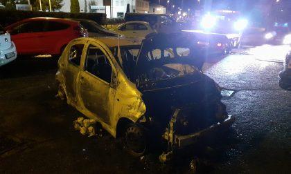 Auto divorata dalle fiamme nella notte FOTO