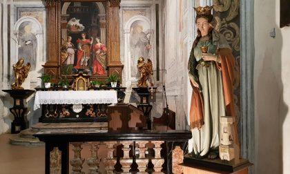 Dopo 20 anni a statua perduta di Santa Barbara torna al Santuario