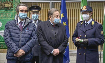 Il comandante Monica Porta premiata per il lavoro dei vigili durante il lockdown FOTO