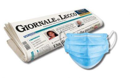 Questa settimana con il Giornale di Lecco, in regalo la seconda mascherina