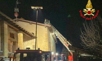 Incendio canna fumaria: intervento dei Vigili del Fuoco
