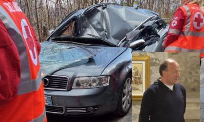 Automobilista muore schiacciato da un masso: la vittima è il pittore Roberto Bogialli