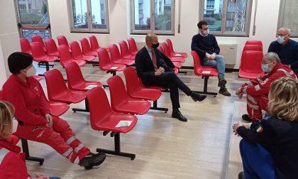 Il sindaco Gattinoni incontra i volontari della Croce Rossa di Lecco