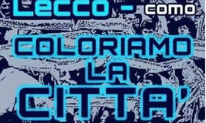 Sale la febbre derby: per Lecco-Como la città si colora di bluceleste