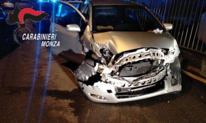 Giovane brianzolo ubriaco  si schianta con l'auto della madre. Arrestato dai Carabinieri