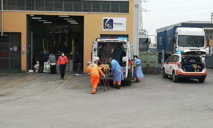 Incidente sul lavoro: operaio si ferisce col muletto