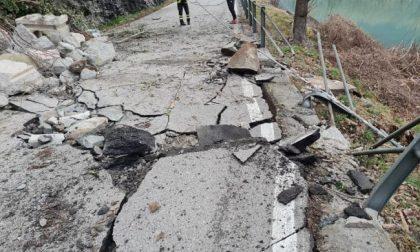 Disastro a Dascio sull'Alto Lago: frana distrugge la strada, abitanti isolati