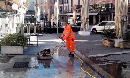 Lecco, Silea e il Comune al lavoro per la pulizia straordinaria di due piazze