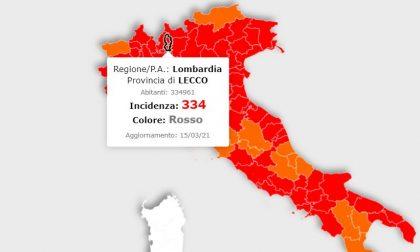 Covid: incidenza a Lecco sopra quota 300