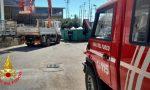 Gravissimo incidente sul lavoro: operaio schiacciato tra un camion e il muro.