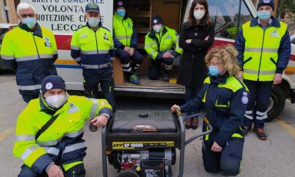 Un nuovo generatore per il Gruppo Comunale Volontari di Protezione Civile
