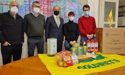 300 kg di cibo donati oggi a Lecco a chi è stato messo in crisi dalla pandemia