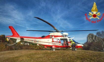 Famiglia in difficoltà sul Grignone: elicottero dei Vigili del fuoco ancora in azione