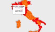 Coronavirus: l'incidenza a Lecco è scesa sotto la soglia critica. La curva lombarda decresce