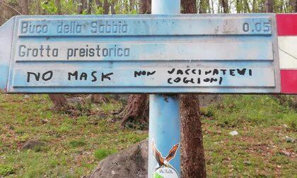 Vandali no vax e no mask in azione sul Cornizzolo
