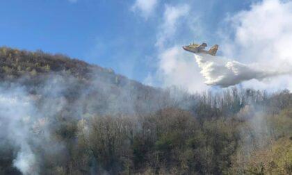 Incendio in Alto Lago: Vigili del Fuoco in azione