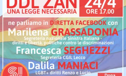 Ddl Zan: dibattito sabato promosso da Sinistra Italiana Lecco