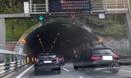Lavori: il tunnel del Barro chiude di notte