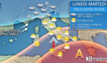 L'Italia si spacca in due: piogge e temporali al Centronord, caldo al Sud   METEO