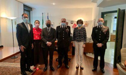 Il comandante interregionale Carabinieri Vincelli in visita al Prefetto di Lecco
