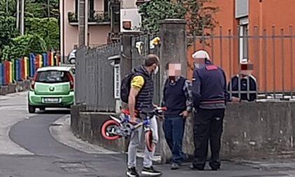 Paura per un bimbo di tre anni investito mentre era in sella alla sua biciclettina