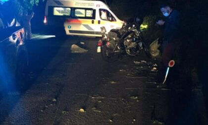 Schianto nella notte sulla Provinciale,  motociclista trasportato in codice rosso in ospedale