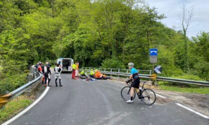 Incidente, motociclista trasportato in elicottero: è gravissimo FOTO