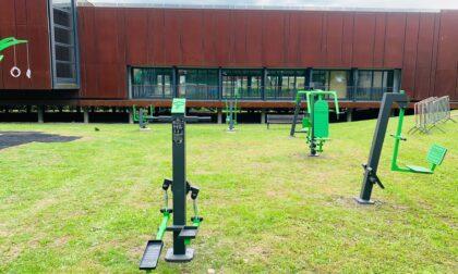 Si taglia il nastro della nuova area fitness al parco Due Mani